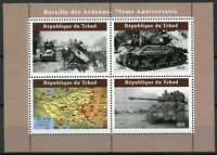 Chad Military Stamps 2019 MNH WWII WW2 Battle of Bulge Ardennes Tanks 4v M/S II