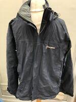 Berghaus Mens Size  M Vintage Blue Wind Shower Coat Hood Bxa