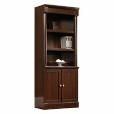 Sauder Palladia Library Bookcase with Doors - Select, Cherry