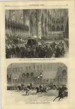 1869 Colliery Explosion Near Wigan No 5 Pit Moss Hall Funeral Of Mr Peabody
