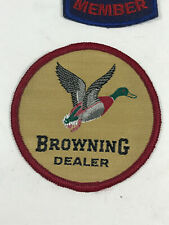 Vtg Browning Dealer Duck Hunting KNife Gun Advertising Embroidered Patch