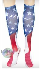 New American Flag Sublimate USA Knee High Socks
