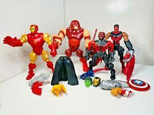 Marvel Super Hero Mashers Juggernaut Ironman Star Wars Action Figure Toy Bundle