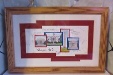 "2000 D. Morgan Washington, D.C. 12"" x 18 Matted & Wooden Framed Print Monuments"