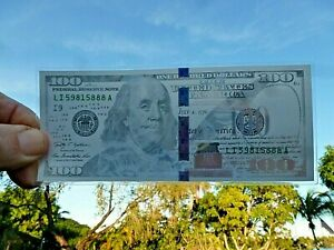 5 (Five) Gram Benjamin Franklin Silver Note Design Of $100 Dollar Bill