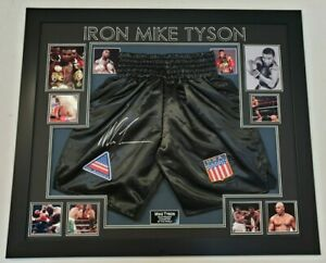 *** Rare MIke Tyson SIGNED Shorts Autographed trunks Display ***