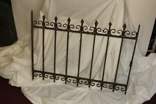 New ListingAntique Victorian Wrought Iron Fence Section Fleur De Lis Finials Window Guard