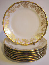 "Weimar Porcelain ""Katharina"" 7.5"" Luncheon/ Dessert Plate White Gold Encrusted"