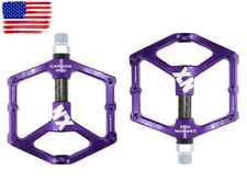Magnesium alloy Road MTB XC Bike Pedals flat Pedal Carbon tube 3 bearings Purple
