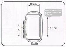 geeignet für BROTHER Stickmaschine NV90 - 955: Stickrahmen 10x17,2 Versatzrahmen