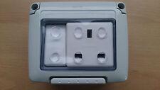 Étanche résistant aux intempéries extérieur prise + interrupteur 1 gang socket/switch valeur!