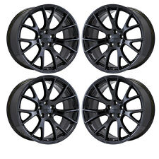 "20"" CHALLENGER HELLCAT SRT BLACK CHROME WHEELS RIM FACTORY OEM SET 2528 EXCHANGE"