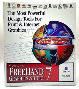 MacroMedia Freehand 7 Graphics Studio with Shockwave for Mac & Windows, Vintage