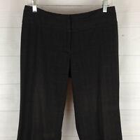 APT.9 womens size 6P stretch black gray check flat front bootcut dress pants