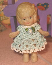 Handmade Miniature Doll Dress Frozen Charlotte or Any Bisque Doll