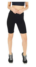 Summer Sports 1/2 Knee Length Cropped Leggings Cotton - Running Gym Dance Black 22