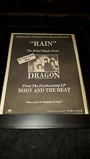 Dragon Body And The Beat Rare Original Radio Promo Poster Ad Framed!