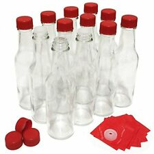 NiceBottles Hot Sauce With Red Caps & Shrink Bands, 5 Oz - 12 Pack New