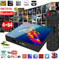 4+64GB A95X R3 Android 9.0 4K UHD Smart TV BOX Dual WIFI BT Quad Core 64Bit HDMI