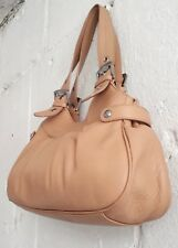 ENZO ANGIOLINI - Sandy Tan Leather Shoulder Bag - Large - Excellent Condition.