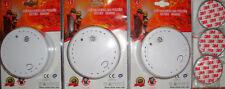 3 x Rauchmelder + 3M Magnethalterungen /10 Jahres Lithium Batterie/DIN EN14604NF