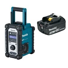 Makita Baustellenradio DMR110 DAB+ inkl 18V Akku 3,0 Ah mit LED-Anzeige