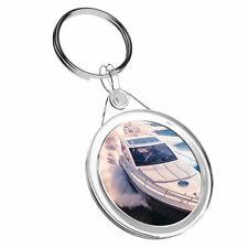 1 X Yacht Sailing Speed Boat Open - Keyring IR02 Mum Dad Birthday Gift #16152
