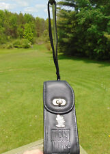 Vintage Disney Store Mickey Mouse Black Leather Cell Phone or Camera Case Buckle