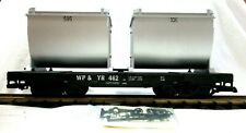 LGB 4086 WP & YR # 462 FLAT CAR W/ ORE CONTAINERS     NEW