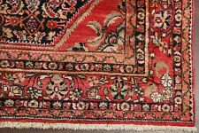 VINTAGE One-of-a-kind Geometric Lilian Hamedan Area Rug NAVY/RED Hand-made 7x10