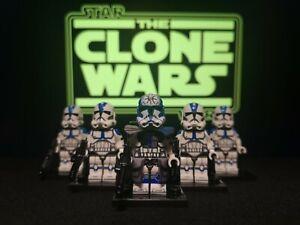 CLONE TROOPER ARMY STAR WARS CUSTOM Lego MINI FIGURE 501ST ARMY 8 MINIFIGURES