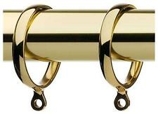 Pack 6 High Quality Solid Brass Metal Curtain Pole Rings - For 25 / 28mm Pole