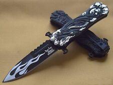 DSA049SL Couteau de Chasseur de Dragons A/O Lame Acier Carbone Manche Alu Dragon