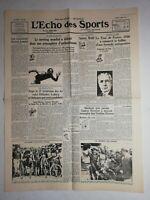 N1072 La Une Du Journal L'écho Des sports 4 août 1936 tour de France 1936