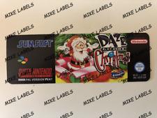 Daze Before Christmas Snes Super Nintendo PAL Cartridge Replacement Label Precut