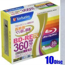 10 Disc Verbatim Blu ray 50gb 2x Blank Rewritable Bluray BD-RE DL repack