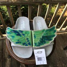 Size 8 Jeremy Scott Adidas GEL WINGS Adilette Pool Slides Sandals Flops D65983