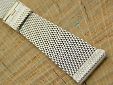 """NOS 19mm Unused Stainless Steel Vintage Sliding Clasp Watch Band 7"""" Kestenmade"""
