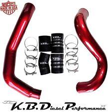 Dark Red Hot & Cold Side Intercooler Tube Ford Powerstroke 6.0 Diesel 03-07 F250