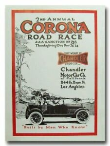 1914 Corona Road Race 2nd Annual vintage reproduction poster print