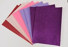 10 x A4 Diva Mix Soft Touch Sparkly Glitter Card (PInks, Purple, Lilac)