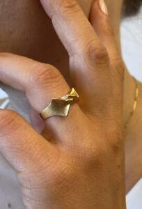 Lapponia Ring Tsokka 585 Gelbgold C8 Größe 54 Damen Nachlass Björn Weckstrom