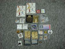 Sports Mixed Lot Pins - Buttons - Emblems - Ruth - Aaron - Ryan Etc. Interesting