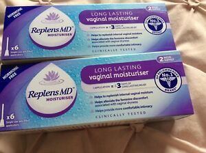 2 Boxes of Replens MD Vaginal Moisturiser with 6 Applicators Brand New
