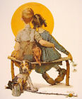BOY AND GIRL GAZING AT THE MOON -  NORMAN ROCKWELL 8 X 10 PRINT