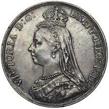 1889 CROWN - VICTORIA BRITISH SILVER COIN - NICE