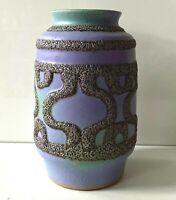 STREHLA Keramik Vase 70er 80er Jahre GDR DDR Keramik Fat Lava violett lila grün