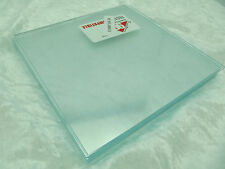 """8 Pieces 6x6"""" Spectrum System 96 COE ICECLE CLEAR Thin 2mm Glass Sheets Pack"""