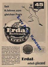 MAINZ, Werbung / Anzeige 1960, Werner & Mertz Erdal Rotfrosch Schuhcreme