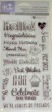 KI HAMPTON ART Clear Stamps EVERYDAY SAYINGS Hello Congratulations Best Wishes